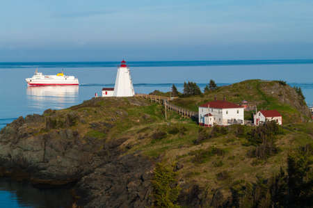 departing: Swallowtail Lighthouse and Grand Manan Ferry departing the island