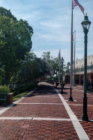 Cobble Stone path along the Augusta Riverwalk Stock Photo