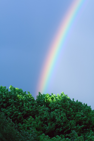 end of rainbow: End of the rainbow Stock Photo