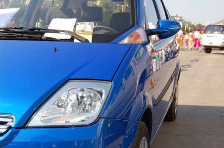 Blue car Stok Fotoğraf - 596184