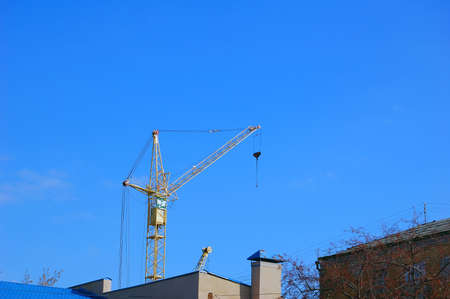 steelwork: crane on the sky background