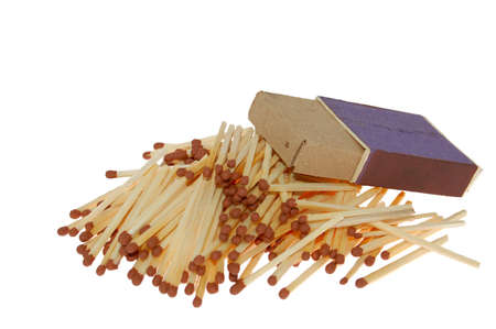 The heap of matches from matchbox photo