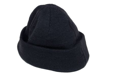 Old wool hat isolated photo