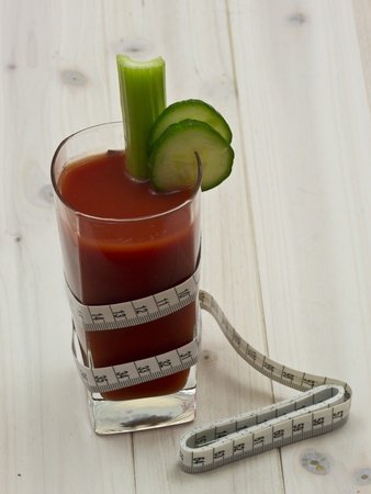 Vegetables juice before fresh vegetables photo