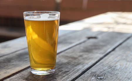 Craft Beer Pale Ale Pint Stock Photo