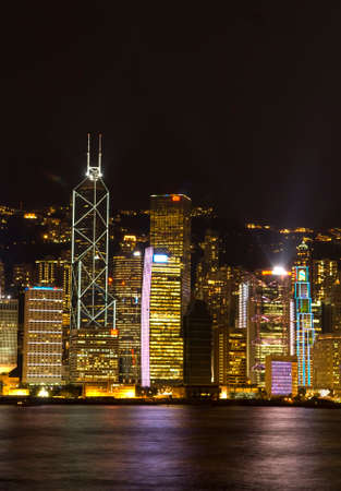 Hong Kong Victoria Harbour The Pearl of the Orient A Symphony of Lights Panoramic Night View Skyline
