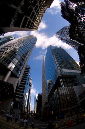 Hong Kong Commercial Building Admirlty Central Business Financial Centre Skyline Skyscraper Bank Editöryel