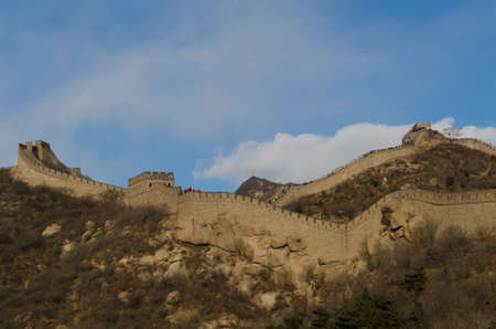 Badaling Great Wall in Yanqing County Beijing China built in 1504 during the Ming Dynasty 1015 metres above sea level