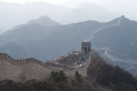 badaling: Badaling Great Wall in Yanqing County Beijing China built in 1504 during the Ming Dynasty 1015 metres above sea level