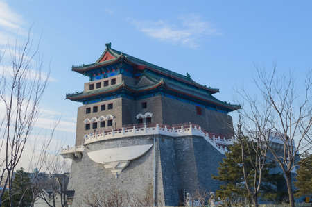 gatehouse: Archery tower Qianmen Zhengyangmen Gate of the Zenith Sun in Beijing historic city wall