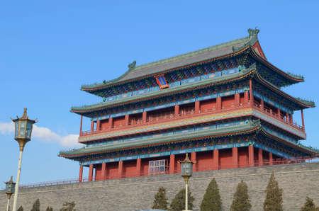 Qianmen Zhengyangmen Gate of the Zenith Sun in Beijing historic city wall Editöryel
