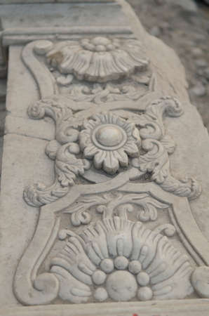 Detail close up of The Old Summer Palace Yuan Ming Yuan the Gardens of Perfect Brightness Imperial Gardens Ruins of the European-style palaces Guanshuifa Dashuifain Haidian District Beijing China