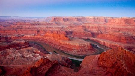Dead Horse Point in Utah Фото со стока