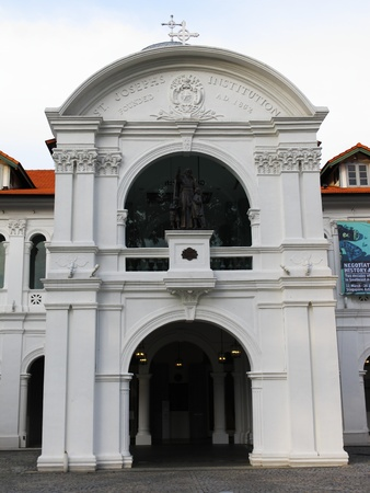 civilisations: Asian Civilisations Museum, Singapore, February 27, 2011 - the front entrance of Asian Civilisations Museum housed in a building which was formerly the location of St. Josephs Institution which is a school