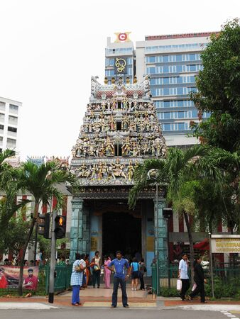 Little India, Singapore, March 1, 2001 - Sri Veeramakaliamman Temple