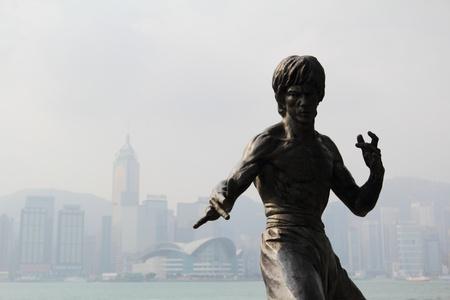 Avenue of Stars, Tsim Sha Tsui, Hong Kong, March 8, 2011 - Bruce Lee statue