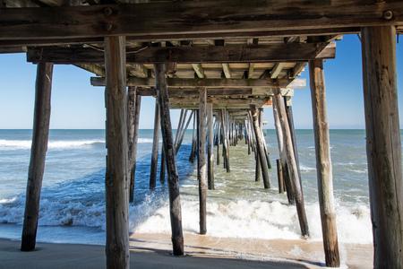 Outer Banks Fishing Pier, North Carolina Stock Photo