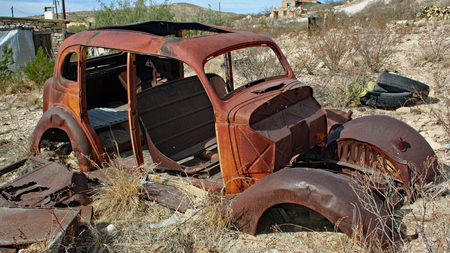 Old car in Terlingua, TX Imagens