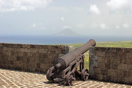 Old fort on Saint Kitts Stock Photo