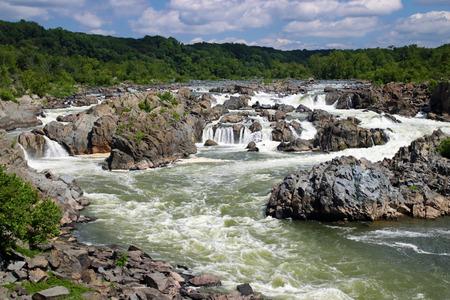 Falls on the Potomac River Stock fotó