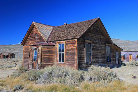 Weathered Wooden Building in Bodie, California