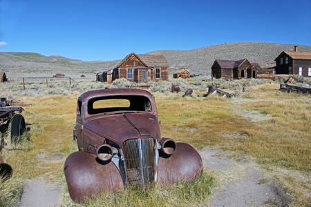 Classic old car in a Ghost Town
