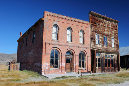 Store fronts in Bodie, CA