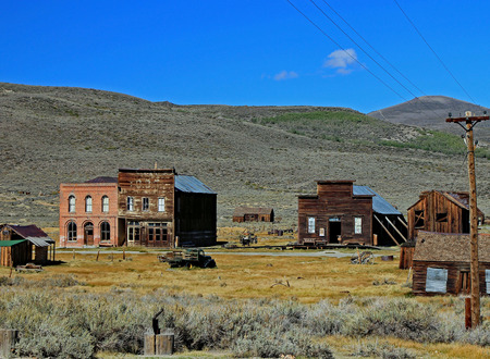 Store fronts in Bodie, California Stock Photo