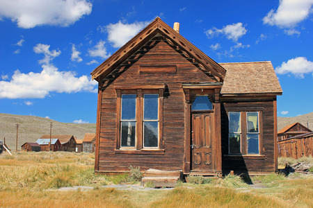Old building on a sunny day in Bodie, California