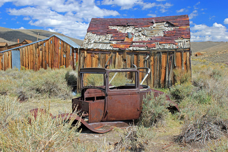 Ghost Town Remains in Bodie, California