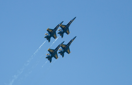 Myrtle Beach Airshow and the Blue Angels Stock Photo