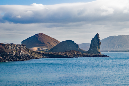 Pinnacle Rock on the coast of the Galapagos Islands