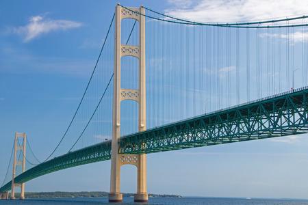 Mackinaw Bridge in Michigan Banco de Imagens