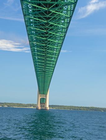 Mackinaw Bridge in Michigan Фото со стока