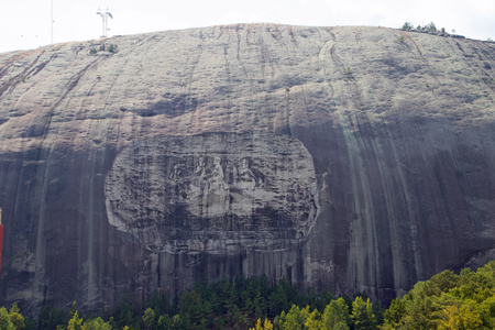 Carvings at the Stone Mountain Memorial