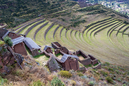 Inca Ruins in the Sacred Valley of Peru Imagens