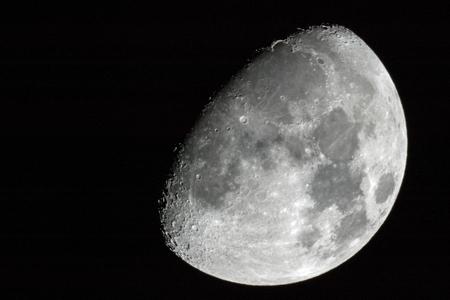 Waning Gibbous Moon Banco de Imagens