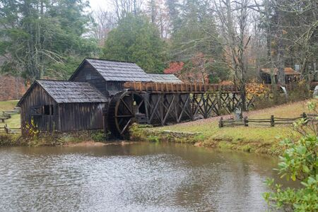 Mabry Grist Mill In Virginia 免版税图像