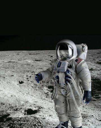 spacesuit: American Astronaut wearing a pressure suit