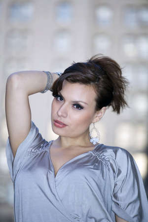 latin woman in her early twenties.  She is from Bolivia and was photographed July, 2009 in the USA.  Stock Photo - 9302467