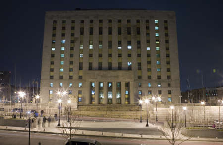 Mario Merola Building / Bronx County Courthouse in the Bronx.  Bounded by the Grand Concourse, East 161st Street, Walton Avenue and East 158th Street, the Bronx County Courthouse houses the Surrogate's Court, Supreme Court, County Clerk, Sheriff, Public A Editorial