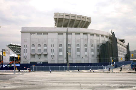 yankee: BRONX, NEW YORK - APRIL 10: Image of the old Yankee Stadium in the process of being torn down.  Taken April 10, 2010 in the Bronx, New York.  Editorial