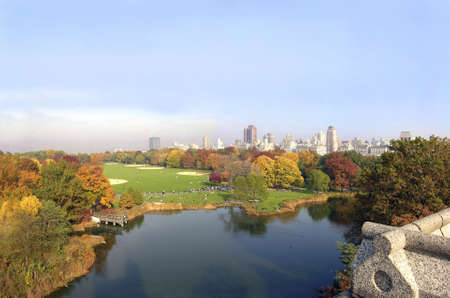 Photo of Central Park in New York City.  Photographed on a November morning, 2005 in the USA.  photo