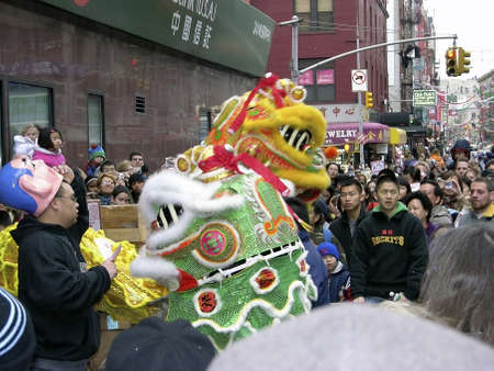 Chinese New Year Celebration held in Chinatown New York City, USA.   Photographed February 2006.  No release available.