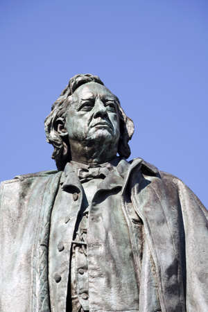 abolitionist: Memorial Statue of Henry Beecher.  Henry Ward Beecher (June 24, 1813 � March 8, 1887) was a prominent, Congregationalist clergyman, social reformer, abolitionist, and speaker in the mid to late 19th century.Statue is located in Brooklyn, New York, USA a Editorial