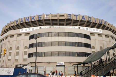 Photo of the old Yankee Stadium just before it was torn down.  Taken in the county of the Bronx, New York, USA.  Image taken April, 2009.