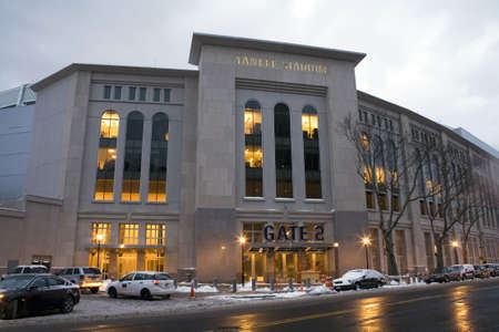 bronx county: Image of the new Yankee Stadium during winter in the county of the Bronx, New York.  Photographed March, 2009 in the USA.
