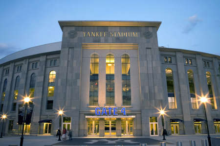 yankee: Photo of the New Yankee Stadium.  Photographed in the county of the Bronx, New York, USA.  Image taken April, 2009.