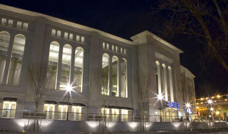 Photo of the new Yankee Stadium. Photographed in the county of the Bronx, New York, USA.  Image taken April, 2009.