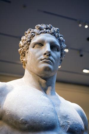 greek statue: NEW YORK, NY - APRIL 10: Statue of Hercules, greek myth hero located inside the Metropolitan Museum.  Taken April 10, 2009 in New York City